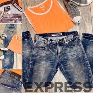 EXPRESS JEANS• ROCCO• Bleach Washed- Men's